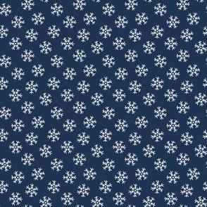 Winter snowflakes (dark)