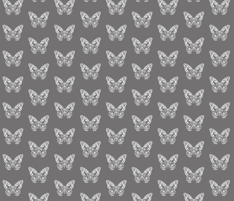 Mono Winged fabric by laine_and_leo on Spoonflower - custom fabric