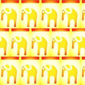 Marching Sunset Elephants Large