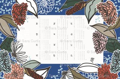 Vintage Garden Tea Towel Calendar 2018