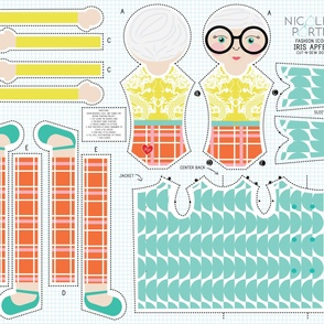 Iris Apfel Cut-and-Sew Doll