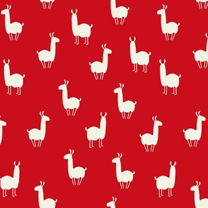 Llamas small red