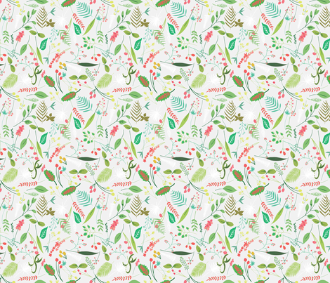 Nature Walk in grey fabric by emilyannstudio on Spoonflower - custom fabric
