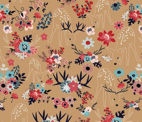 Darling Deer  1 fabric by vieiragirl on Spoonflower - custom fabric