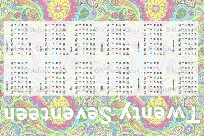 2017  Paisley Calendar Tea Towel