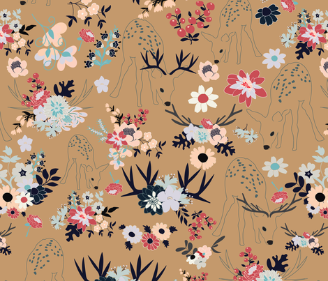 Darling Deer 3 fabric by vieiragirl on Spoonflower - custom fabric