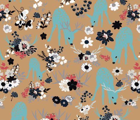 Darling Deer 4 fabric by vieiragirl on Spoonflower - custom fabric
