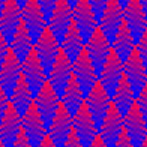 Wavy Red & Blue Plaid