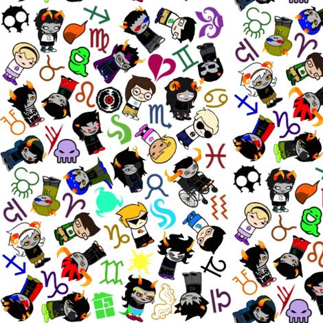 Homestuck Collage fabric - pattyjh - Spoonflower on homestuck animals, homestuck character base, homestuck sky, homestuck money, homestuck fire, homestuck light, homestuck universe, homestuck snow, homestuck science, homestuck galaxy,