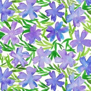 purple flowers-watercolor