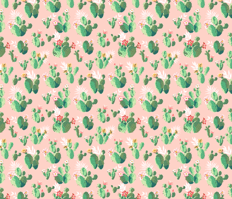 Trendy Pink Cactus fabric by melinda_wolf_designs on Spoonflower - custom fabric