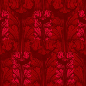 Classic Acanthus Leaves Red V2