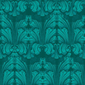 Classic Acanthus Leaves Teal
