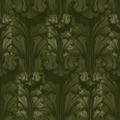 Classic Acanthus Leaves Olive V2