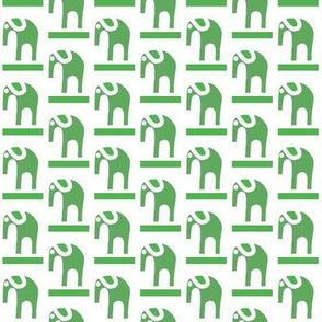 Marching Elephants Moss Green