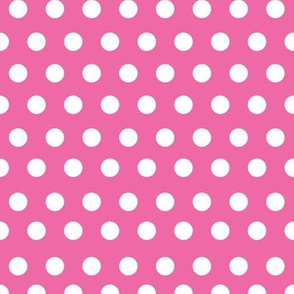 Bright Pink Polka Dot