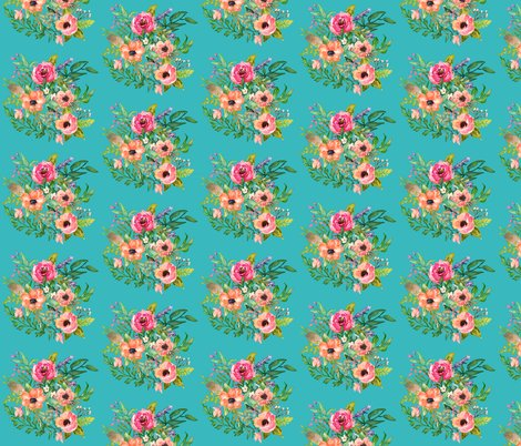 Aqua_print_fabric_bright_florals_shop_preview