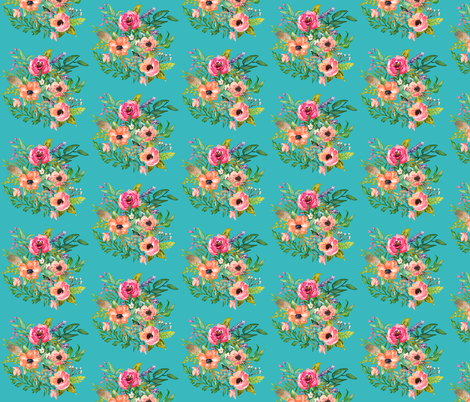 Bright Florals Print fabric by shopcabin on Spoonflower - custom fabric