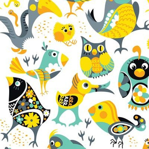 Silly Birds Pattern