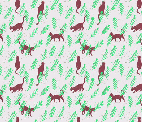 meow_lime fabric by holli_zollinger on Spoonflower - custom fabric