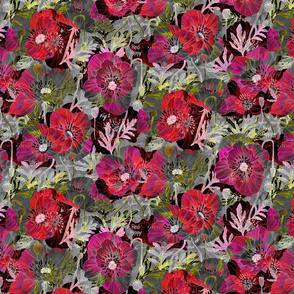 California_Poppies_Mod_Dark_Botanical_Med16in