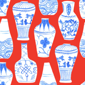 Chinese Vases (red background)