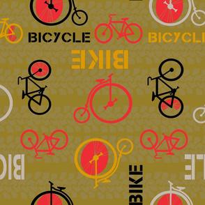 bicycle or bike? Green by Diane Gilbert