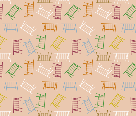 stencilled swing fabric by anino on Spoonflower - custom fabric