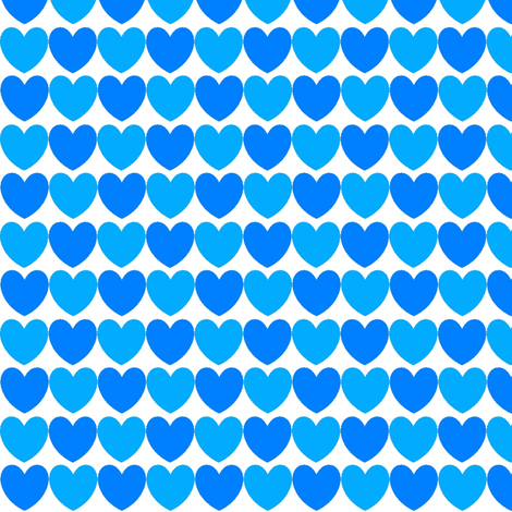 hearts_blue_and_turquoise fabric by lesenviesdecharlotte on Spoonflower - custom fabric