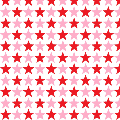 stars_pink_and_red fabric by lesenviesdecharlotte on Spoonflower - custom fabric