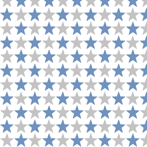 stars_jean_and_grey fabric by lesenviesdecharlotte on Spoonflower - custom fabric