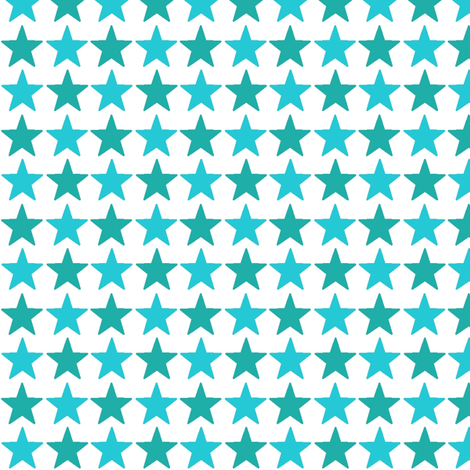 stars_turquoise_and_emerald fabric by lesenviesdecharlotte on Spoonflower - custom fabric