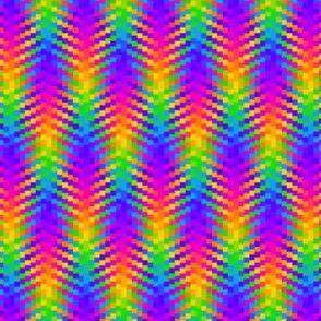 Wavy Rainbow Plaid 1