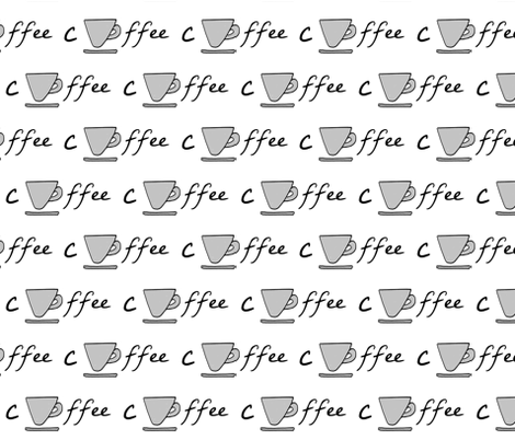 Cup of coffee - gray fabric by drapestudio on Spoonflower - custom fabric