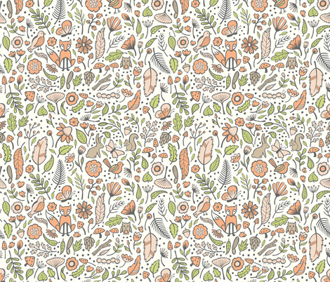Nature Hunt - Forrest Pink fabric by jaymehennel on Spoonflower - custom fabric