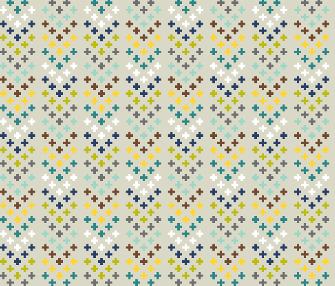 Plus Chevrons fabric by mongiesama on Spoonflower - custom fabric