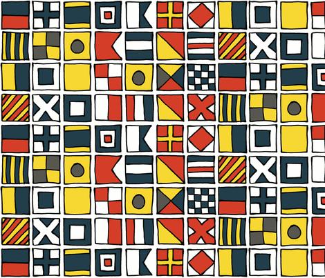pen and ink maritime pangram fabric by mongiesama on Spoonflower - custom fabric