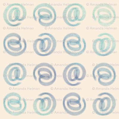 watercolor strudel symbols