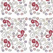 Henna and flower print
