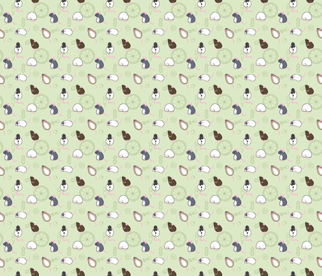 Rattern Green fabric by pinnings on Spoonflower - custom fabric