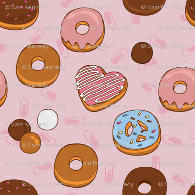 Love, Peace & Donuts - Pink
