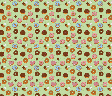 Love, Peace & Donuts fabric by pinnings on Spoonflower - custom fabric