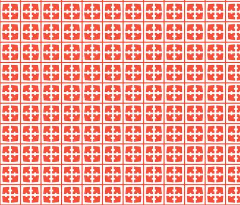 Breeze Block - Red fabric by moderntikilounge on Spoonflower - custom fabric