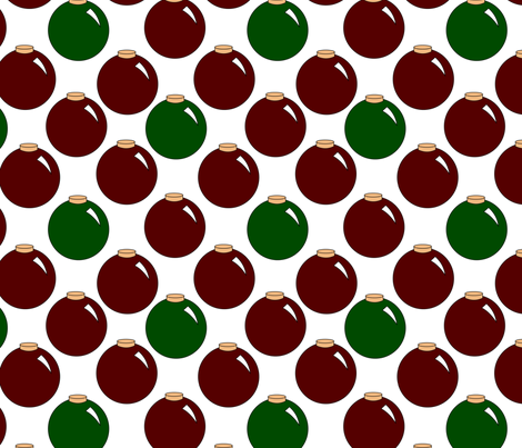 red and green ornaments fabric by pamelachi on Spoonflower - custom fabric