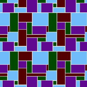 red green purple and blue geometric
