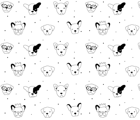 Dogs fabric by ireneflorentina on Spoonflower - custom fabric