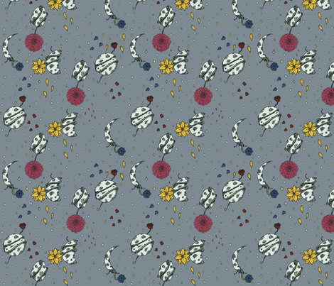 Phases of the Moon fabric by svaeth on Spoonflower - custom fabric