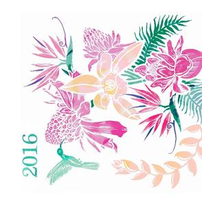 bouquet_tropical__tea_towel_calendar_2016_
