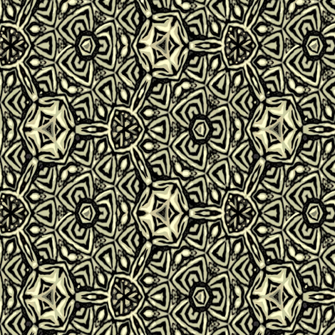 Bold Black and Ivory Triads fabric by wren_leyland on Spoonflower - custom fabric