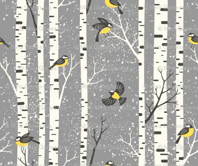 snowy morning - light gray
